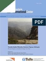 Institutional Assessment Report -- Tsaeda Amba Woreda, Eastern Tigray, Ethiopia