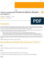 Secure Coding Best Practices for Memory Allocation in C and C++ - CodeProject