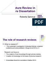 Roberta Sammut - Lecture Literature Review