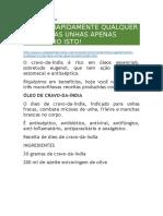 CURA PELA NATUREZA - Eliminar Fungos Das Unhas