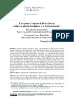 Corporativismo à Brasileira - Entre o Autoritarismo e a Democracia