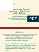 Biofuels and Rural Economic Development in Latin America FINAL Presentation