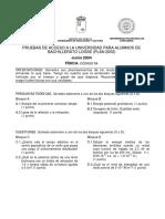 Examen Selectividad Pau Murcia Fisica 2004 Jun