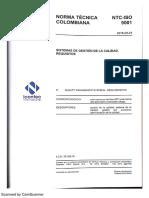 NTC ISO 9001-2015