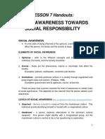 Social Awareness towards Social Responsibility