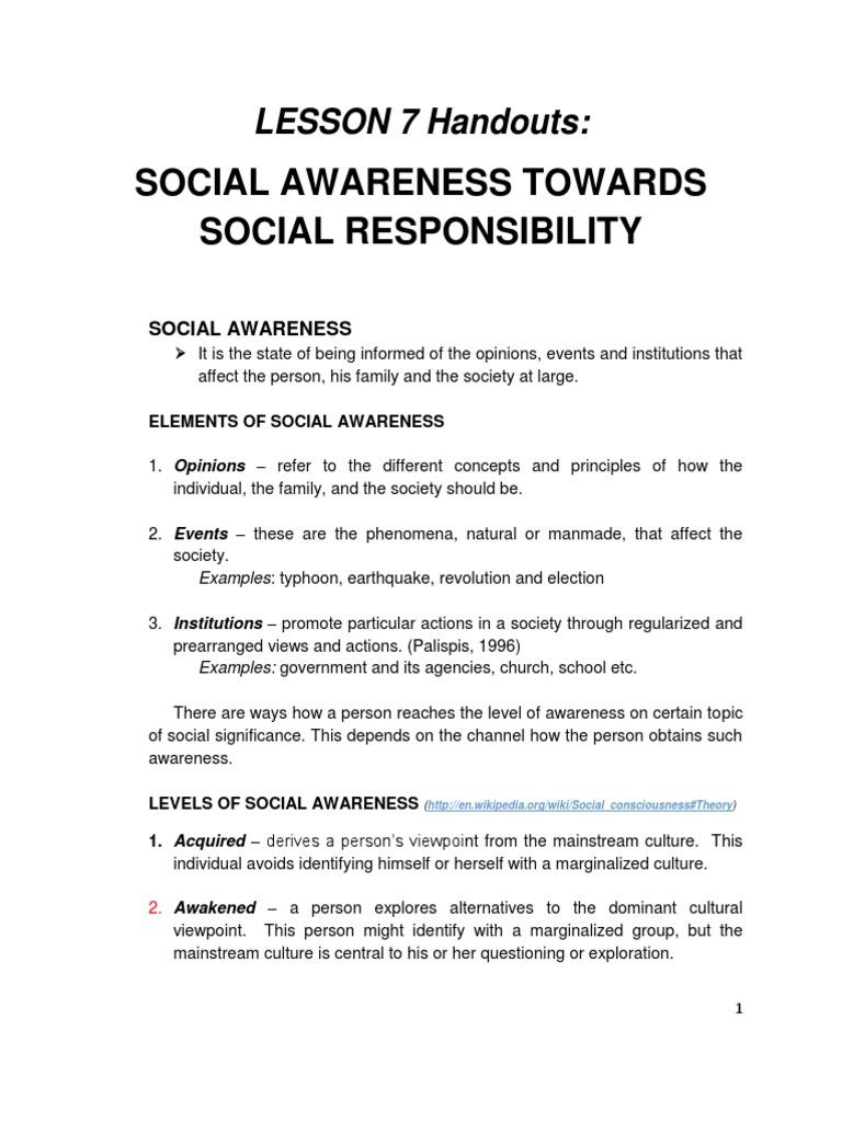 Social Awareness Towards Social Responsibility Institution Democracy