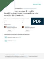 (2016) Comparación de Un Programa de Ejercicio Intradiálisis Frente a Ejercicio Domiciliario Sobre Capacidad Física Funcional y Nivel de Actividad Física.