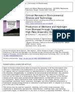 Producción de Metano e Hidrógeno a Partir de Biomasa