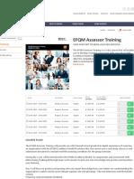 EFQM Assessor Training_Dates