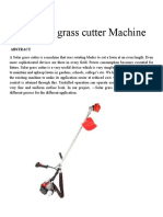 Automatic Grass Cutter Machine