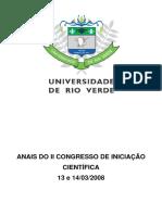 II Congresso Iniciação Cientifica