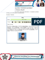 AA1-Evidence 1 My Profile Curso de Inglés
