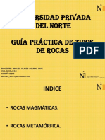 Guía Práctica de Tipos de Rocas