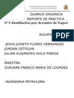 Practica Quimica Organica-Destilacion De Arrastre por Vapor.