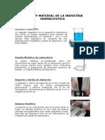 Equipo y Material de La Industria Farmaceutica