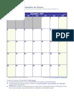 Calendario Dezembro 2016