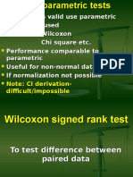 Wilcoxon Sign Rank Test