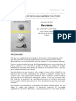 LEADER SUMMARIES - Resumen Del Libro - Decídete - Por Chip Heath y Dan Heath