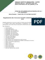 XVIII Conferência Distrital de LEO JUNIOR JCM Do Distrito LEO LA