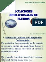 Ecuaciones Operacionales de Fluidos
