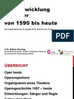 Die Oper Geschichte Des Musiktheaters Von 1597 Bis Heute