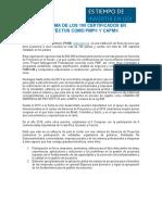 Programa de Certificacion de 100 PMP-CAPM en El 2017