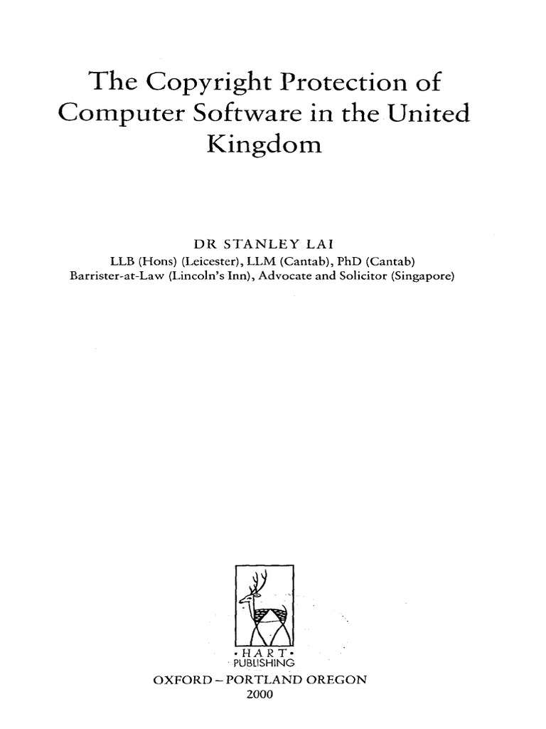 The Copyright Protection of Computer Software in the United Kingdom