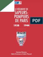 Histoire Des Pompiers de Paris 1938 1944