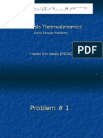 Sample Problems Enthalpy, Activity, Phase Diagram, Limiting and Excess Reactants