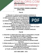 4th_BDS_Prosthodontics