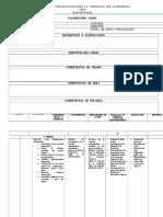 Modelo Planificación 2017. Cefa
