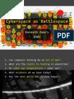 10212014 Webcast Cyberspace as Battlespace