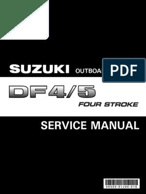 SUZUKI DF4 5 6 Service Man | Screw | Piston