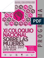 PROGRAMA FINAL XI Coloquio Nacional sobre las Mujeres UPR-Recinto Universitario de Mayagüez