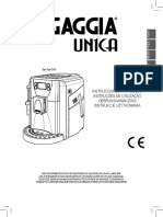 Cafeteria Gaggia Unica Manual