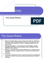 The Great Rhetra - Spartan Society