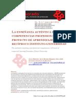 La Enseñanza Auténtica de Competencias Profesionales