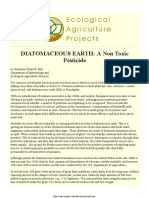 Diatomaceous Earth - A Non Toxic Pesticide