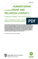 Local Humanitarian Leadership and Religious Literacy: Engaging with Religion, Faith, and Faith Actors