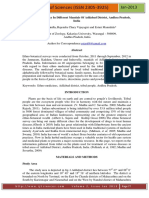 Ethnobotanical Survey In Different Mandals Of Adilabad District, Andhra Pradesh, India