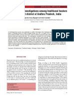 Ethnobotanical investigations among traditional healers in Warangal district of Andhra Pradesh, India