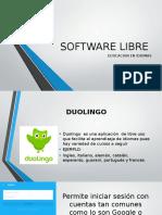 Software Libre Duolingo y Memrise