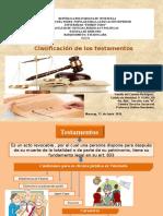 Clasificacion de Los Testamentos en Venezuela