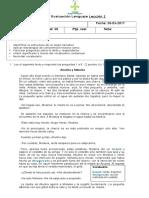Evaluación Lenguaje Lección 1