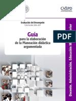 13 E4 GUIA a DOCMS Planeacion Didactica Argumentada