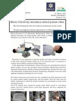 Showa University Introduces Dental Patient Robot