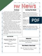 crew newsletter 3 31