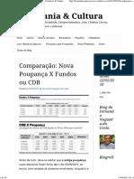 Comparação_ Nova Poupança X Fundos Ou CDB _ Cidadania & Cultura