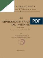 Oravetz_Les Impressions Francaises de Vienne