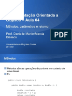 IOO_Aula 4_ Métodos, Parâmetros e Retorno